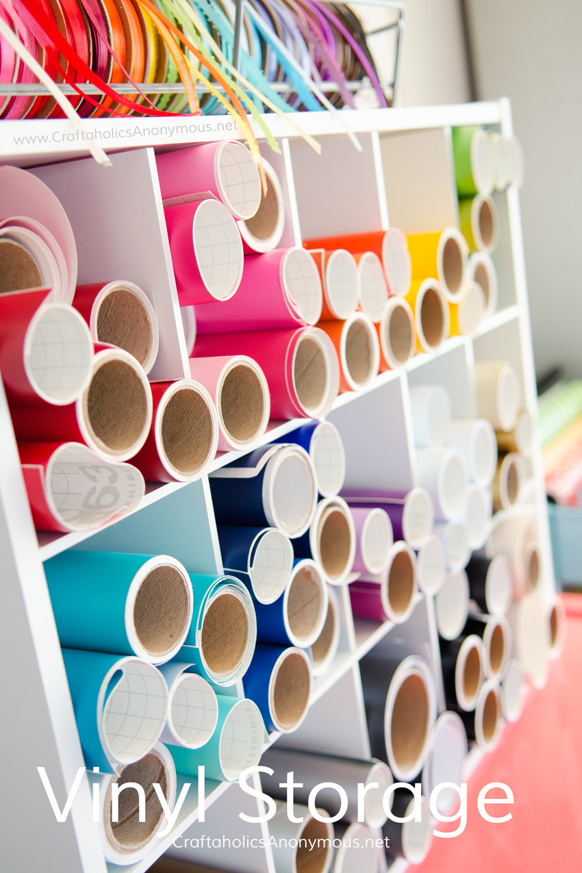 Craftaholics anonymous craft room tour for Cheap craft room storage ideas