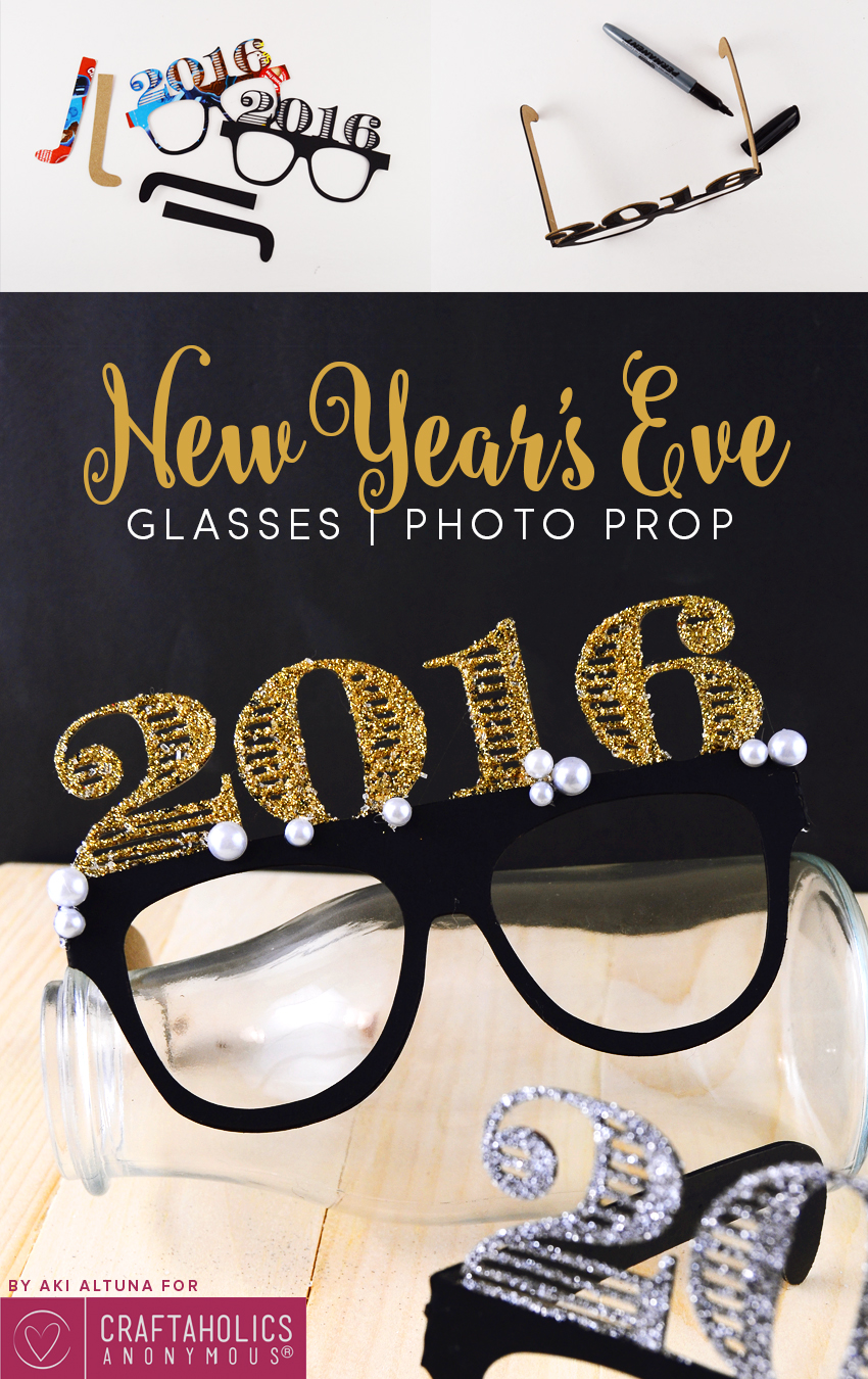 2016 new years eve glasses photo prop minted