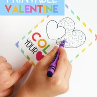 Color Your Heart Out Printable Valentine