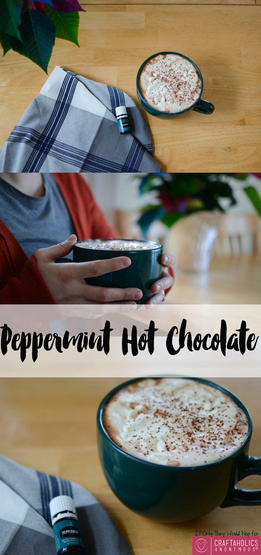 The yummiest Peppermint Hot Chocolate recipe you'll ever taste