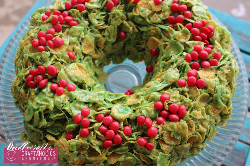 christmas candy wreath treat