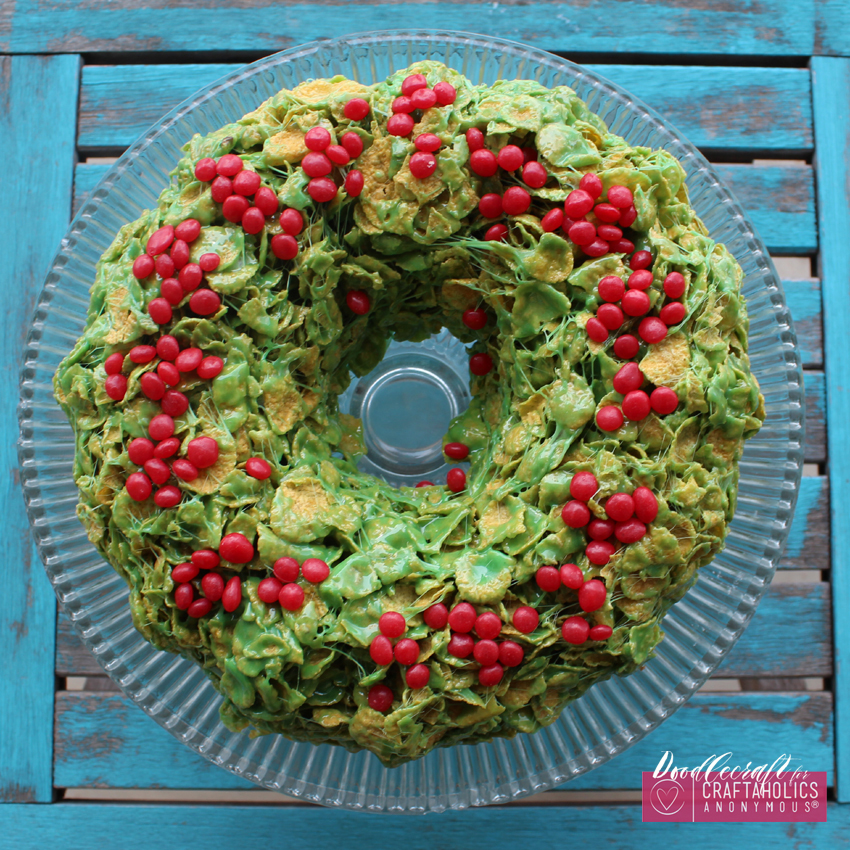 christmas cornflake wreath treat ca (6)