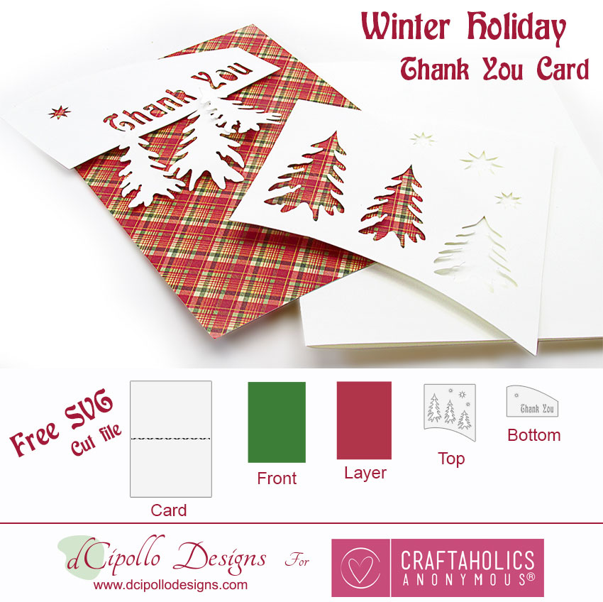 Winter Holiday Thank You Card from dCipollo Designs