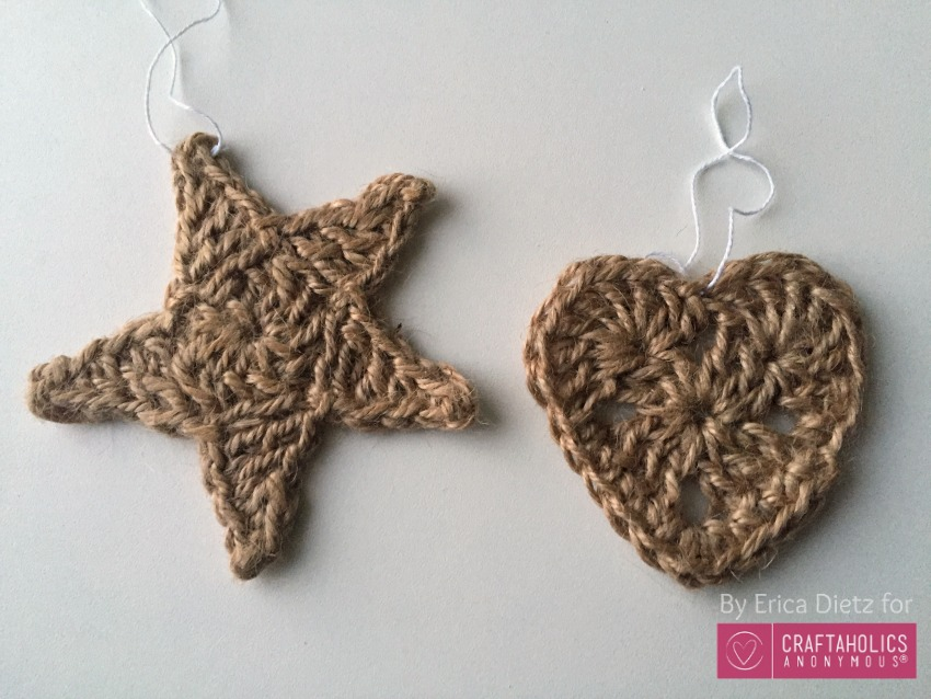 jute heart and star