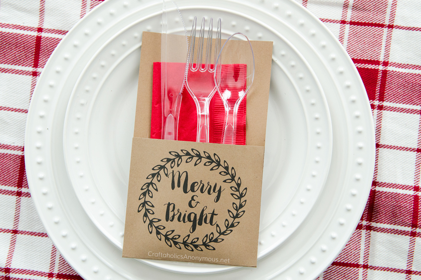 Free Printable Holiday Utensil Holder