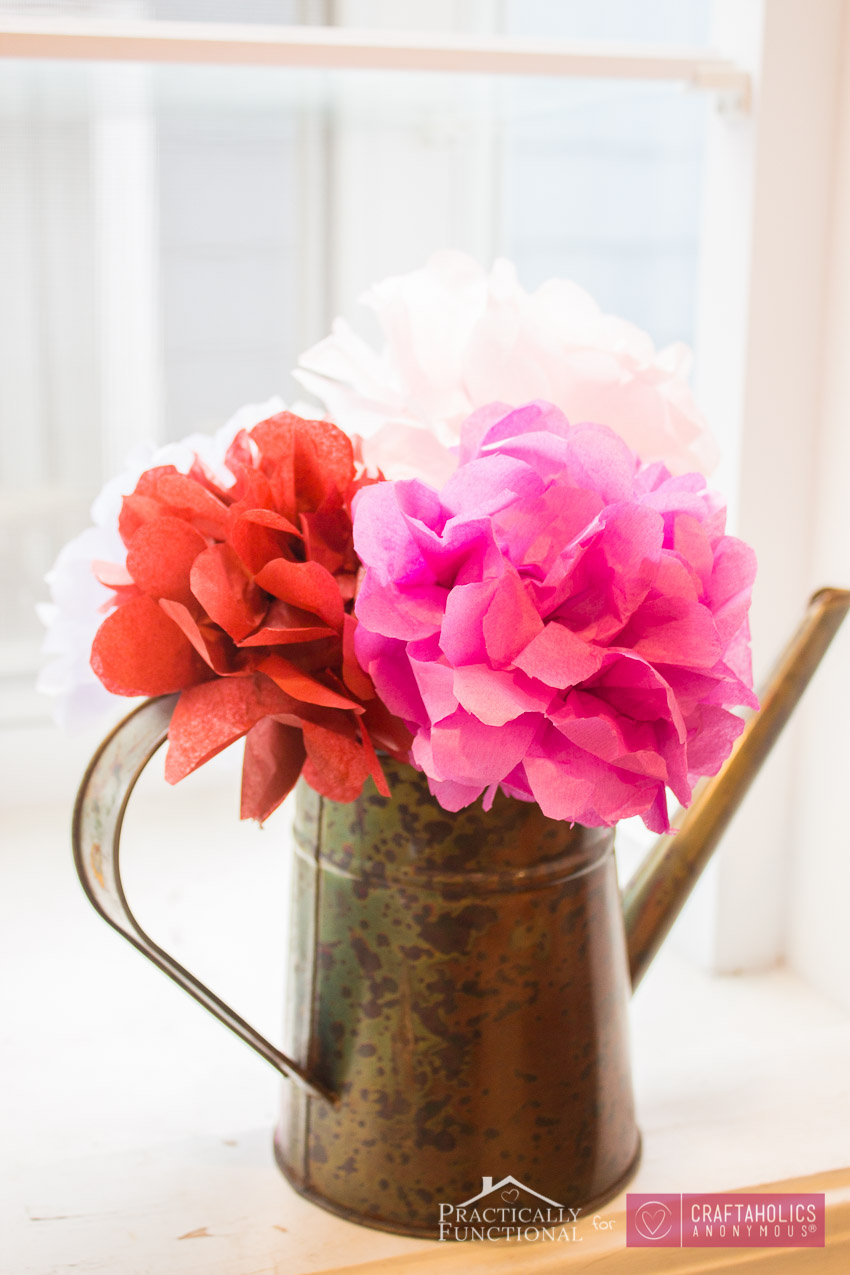 Craftaholics Anonymous Diy Tissue Paper Flowers Tutorial