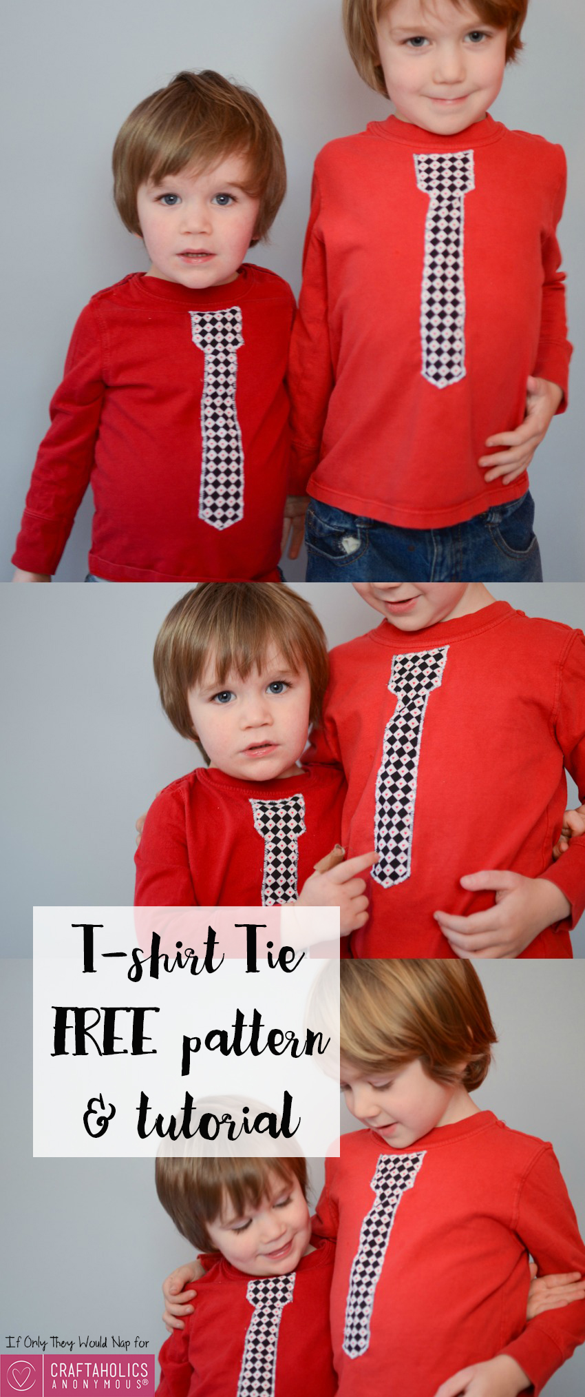 Tshirt Tie FREE pattern and tutorial