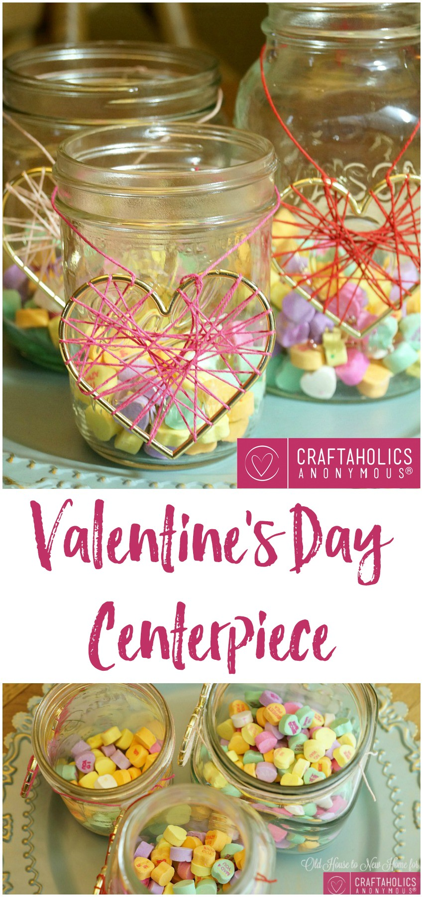 Valentine's Day Centerpiece at Craftaholics Anonymous