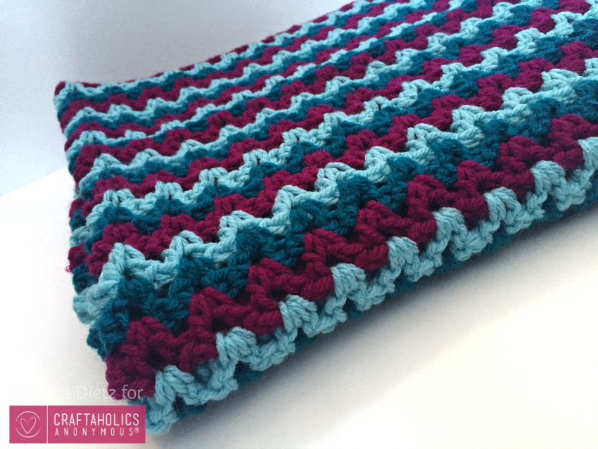 Craftaholics Anonymous? Easy Crochet Baby Blanket