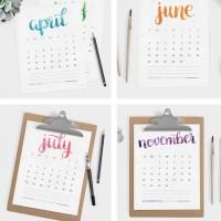 free-printable-2016-calendar-brush-lettering-b