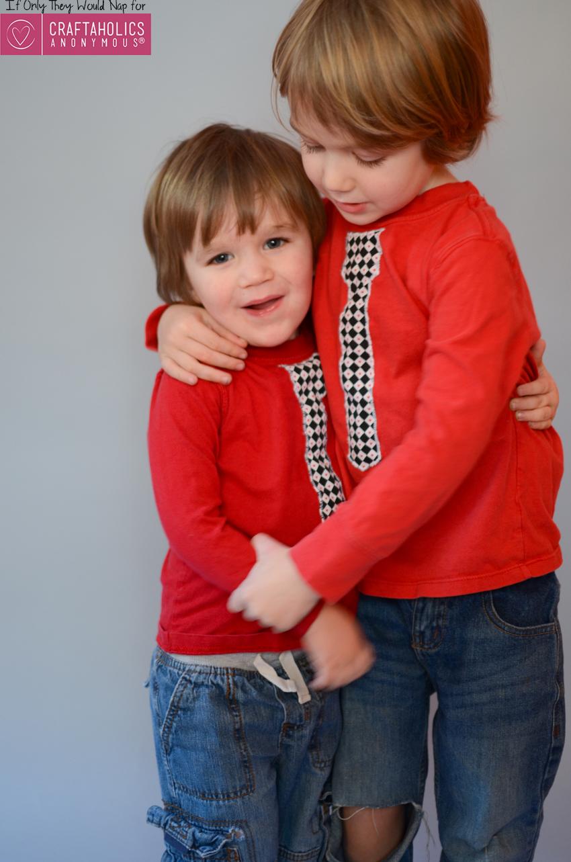 make a valentine tie shirt