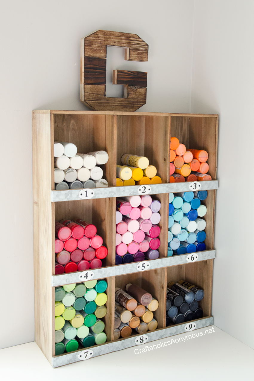 Craft Paint storage idea on www.craftaholicsanonymous.net