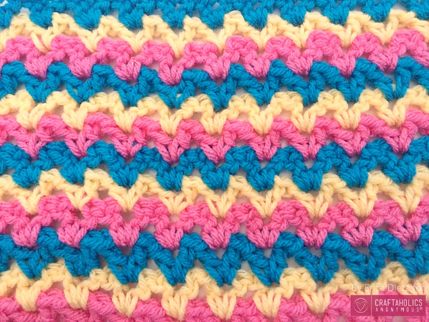 Craftaholics Anonymous Easy Crochet Baby Blanket