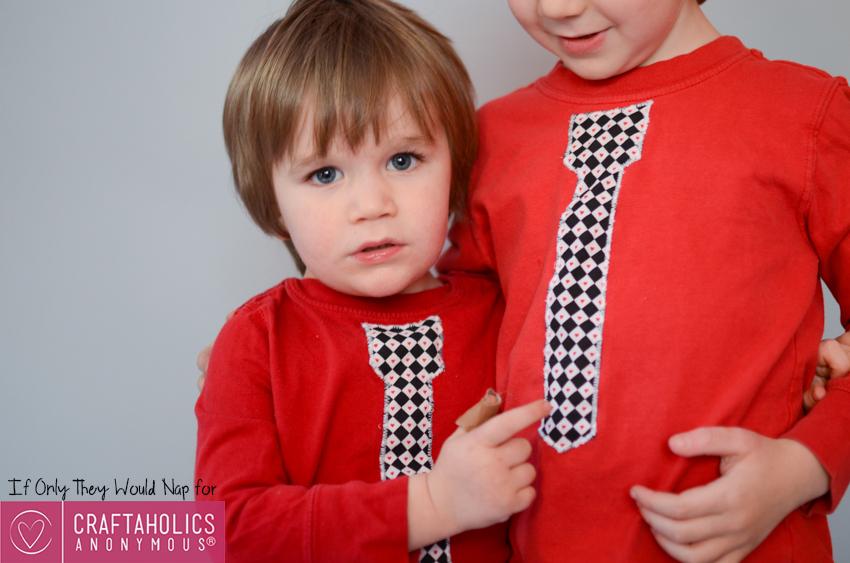 tie shirt tutorial for boys