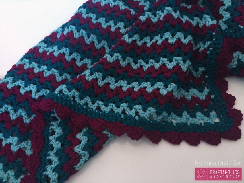 v stitch blanket