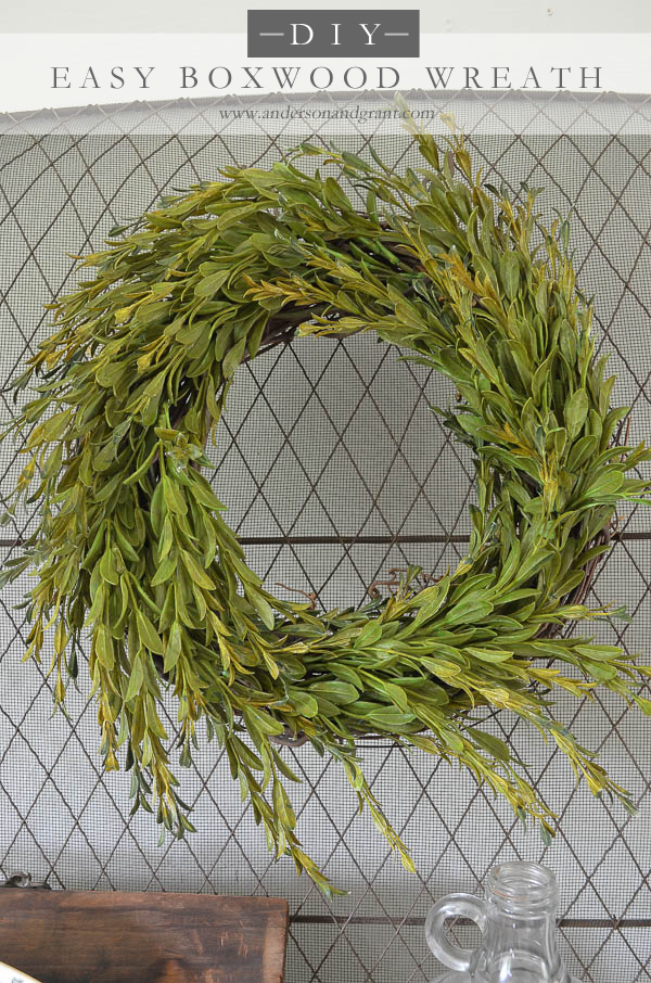 easy boxwood spring wreath