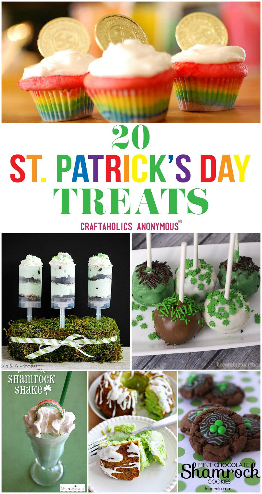 20 St. Patrick's Day Treats from CraftaholicsAnonymous.net