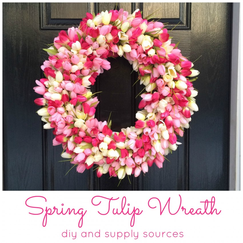 spring tulip wreath