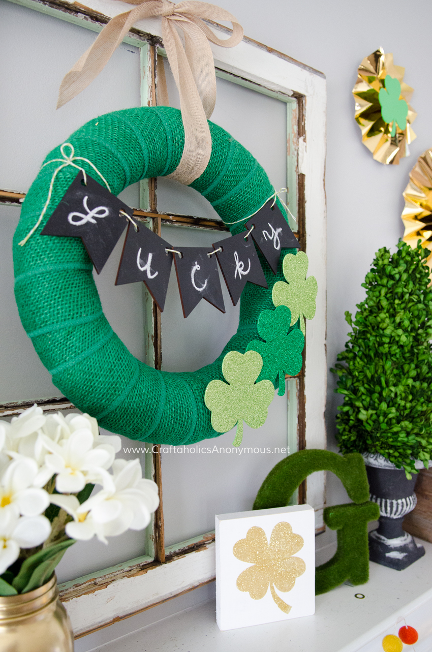 DIY St. Patrick's Day Wreath for under $15