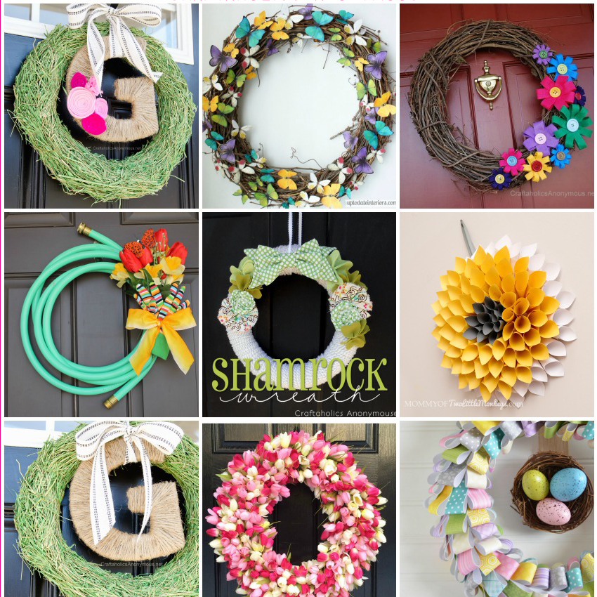 SPRING WREATH TUTORIALS