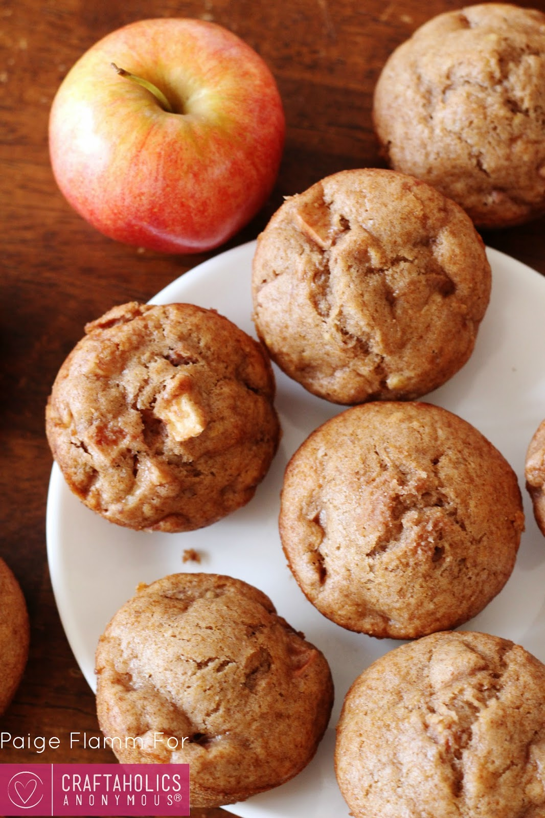 vegan banana apple muffins recipe