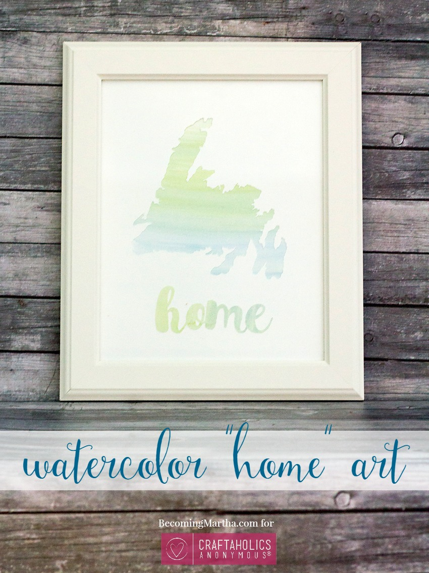 DIY Watercolor Home Art