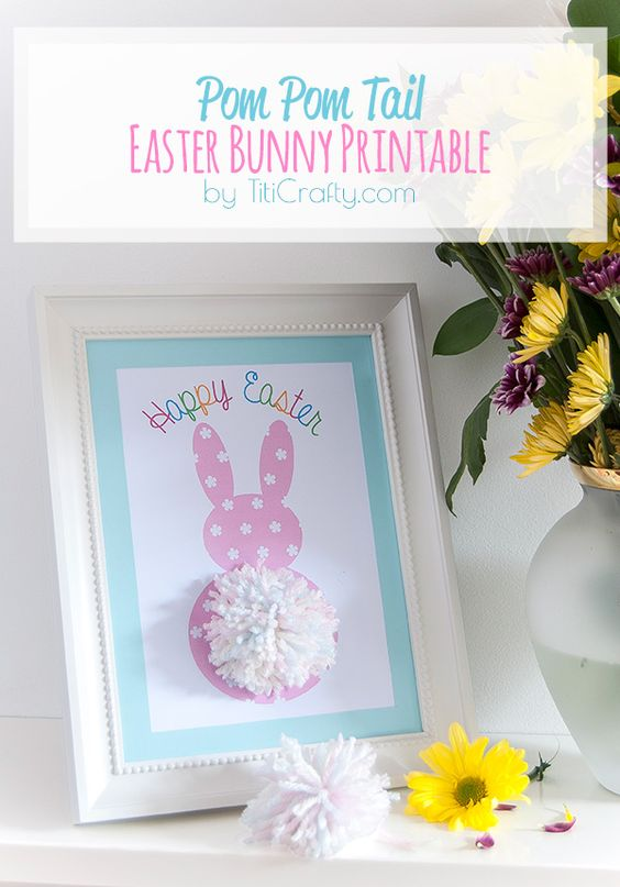 easter bunny tail printable