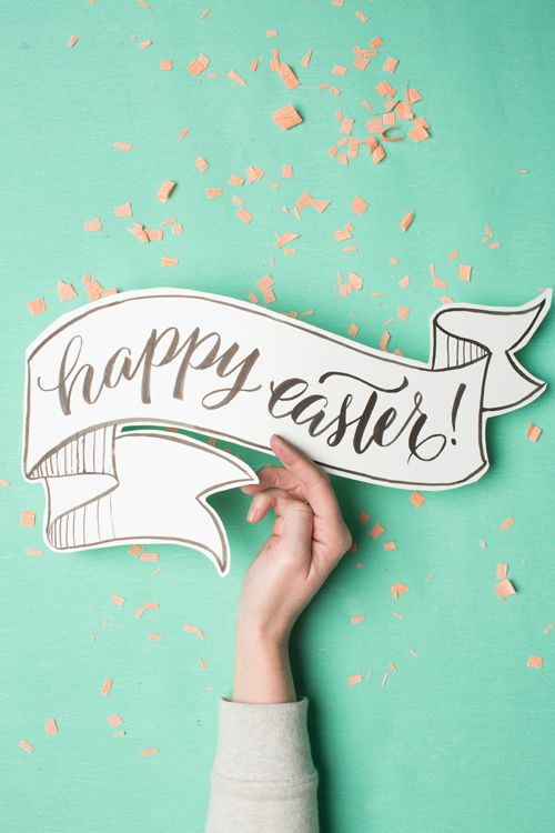 printable happy easter banner