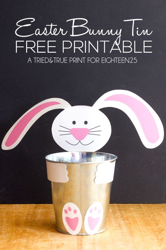 easter bunny printable