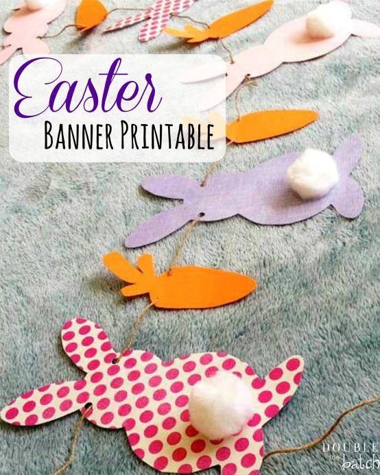 easter bunny banner printable