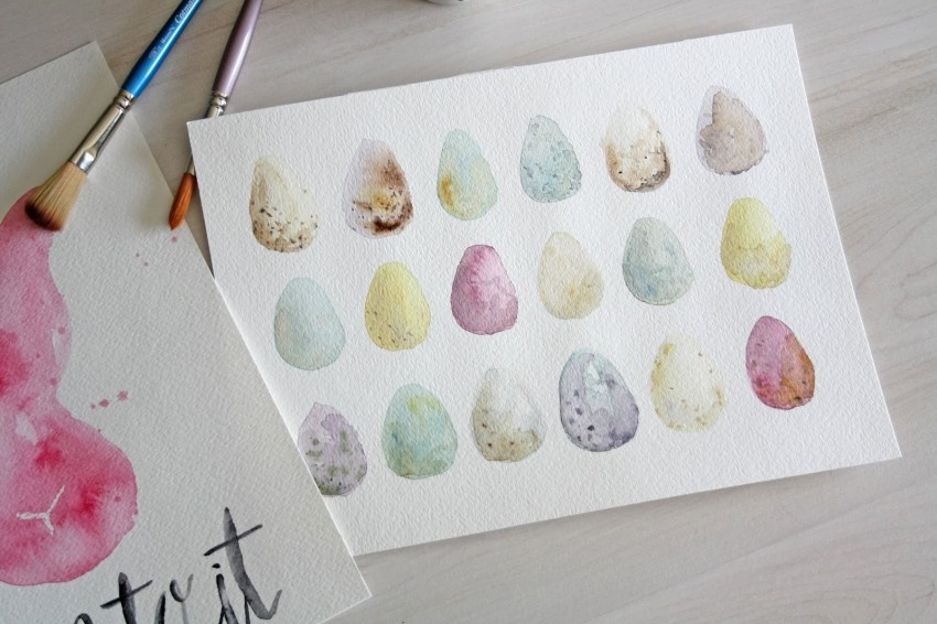 printable easter watercolor