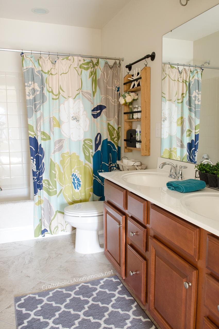DIY Bathroom floor makeover