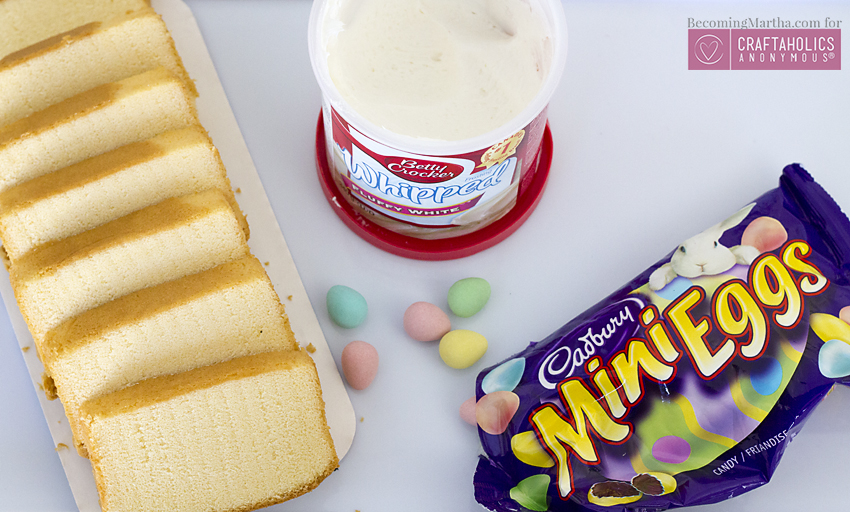 Craftaholics anonymous mini eggs cake stack quick for Quick and easy easter treats recipes