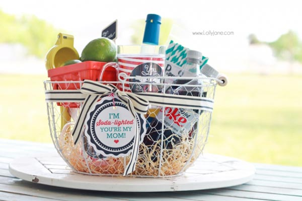 gift basket for mom