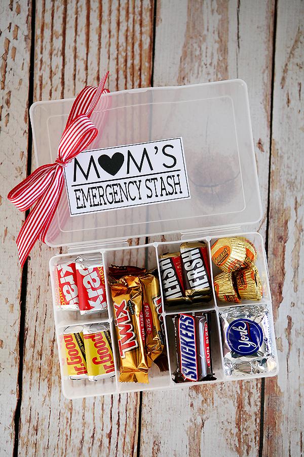 mom's emergency stash kit gift