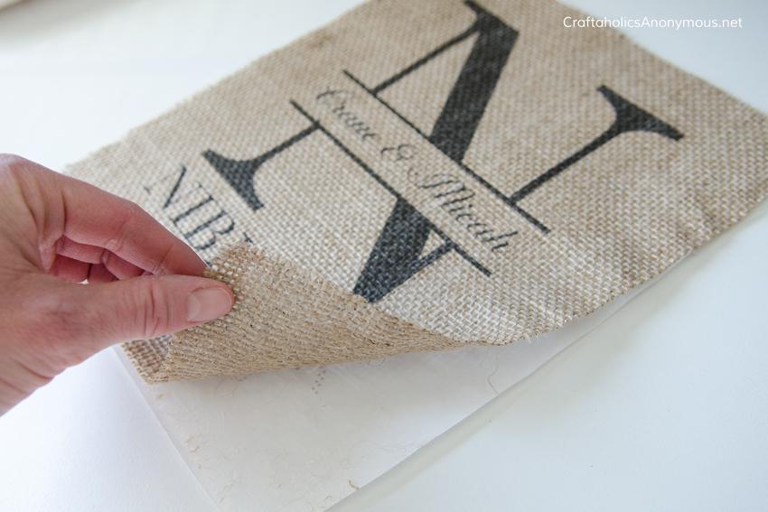 DIY Burlap Monogram tutorial