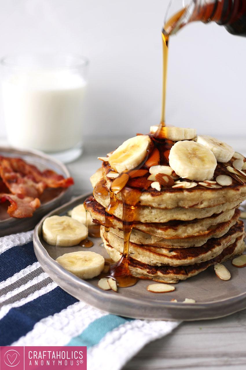 banana almond pancakes recipe