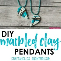 DIY Marbled Pendant Tutorial featured