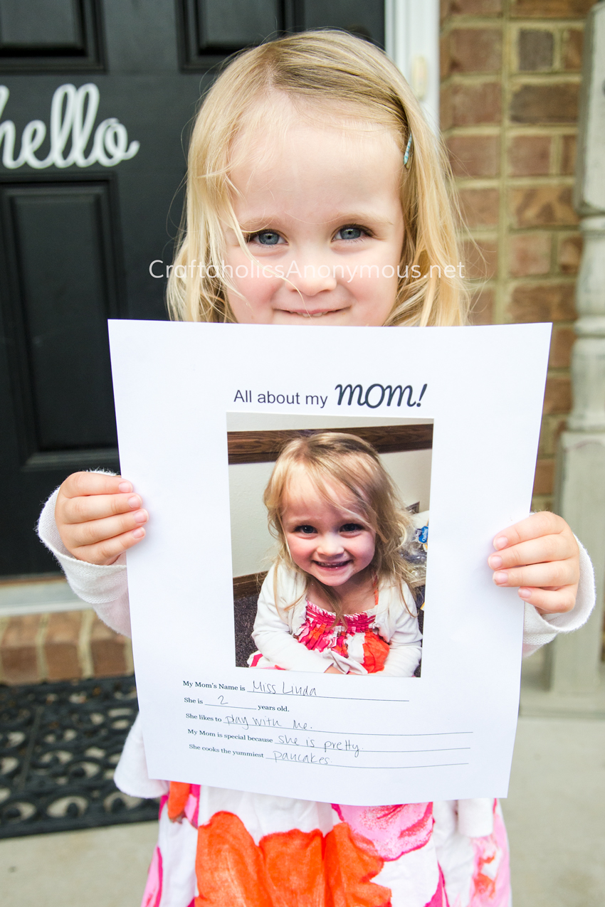 Preschool Mothers day gift idea