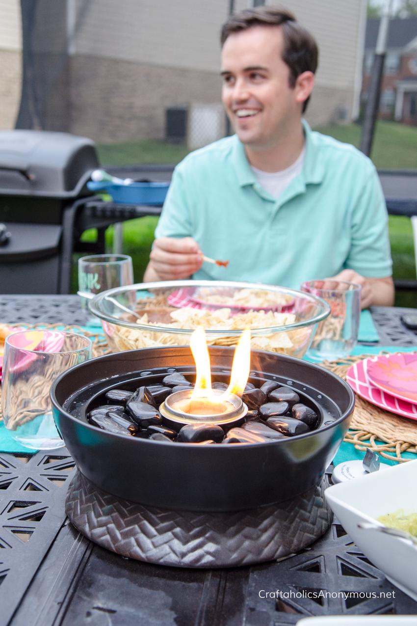 TIKI Brand Tabletop Firepiece