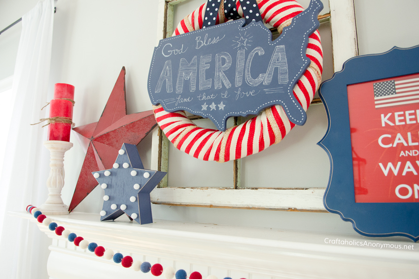DIY Patriotic decor