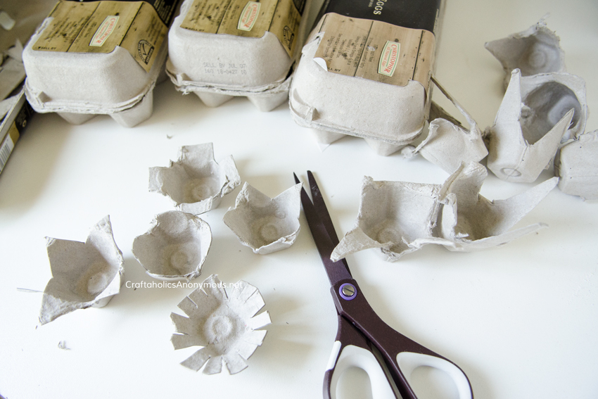 How to make egg carton flowers