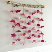 Flower-Wall-hanging-craft