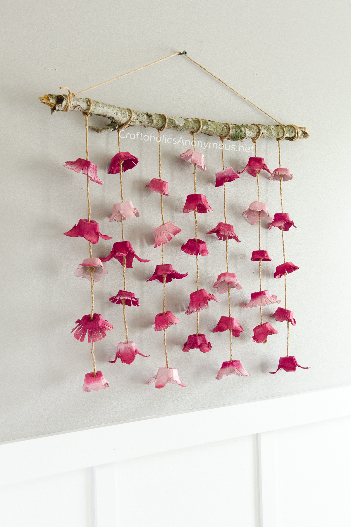 craftaholics anonymous boho flower wall hanging made