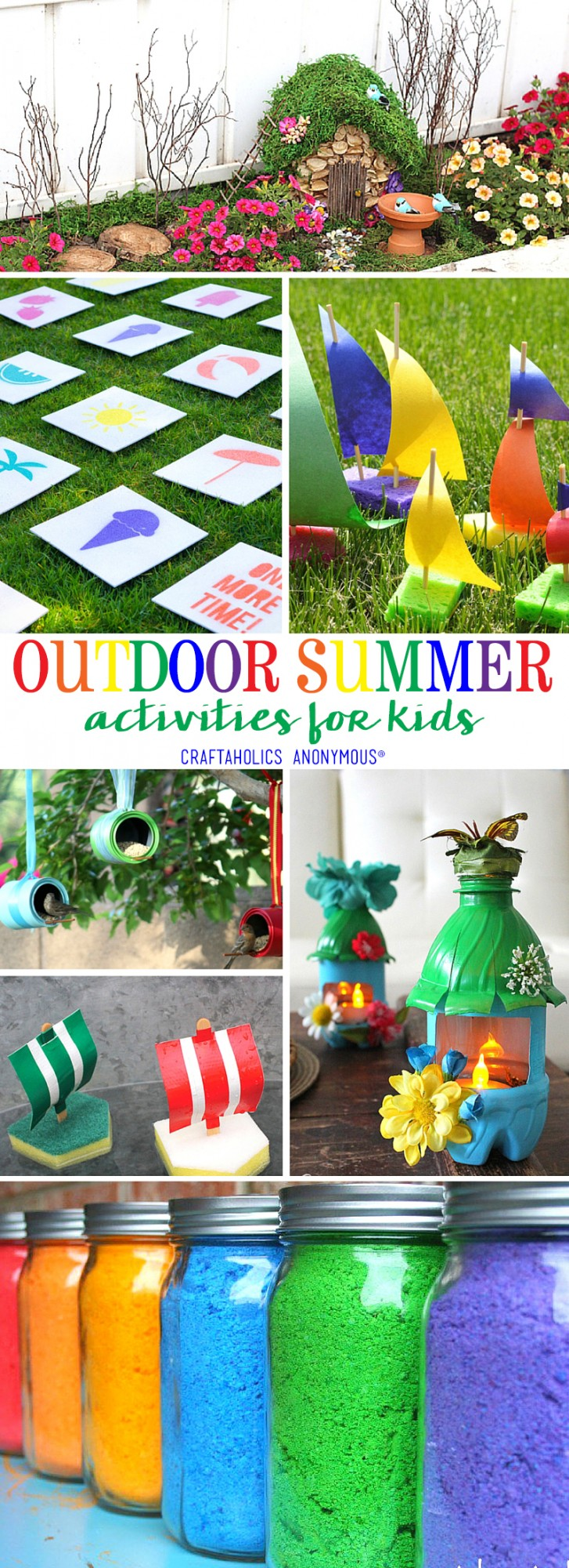 Outdoor Summer Activities for Kids at Craftaholics Anonymous