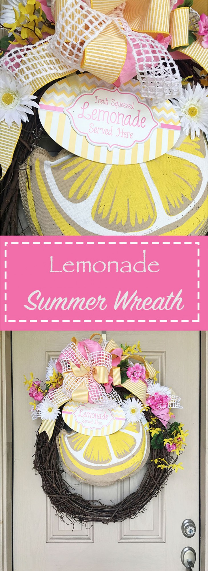 With just a few craft store supplies, you can make this cute summer wreath in an afternoon! Get the tutorial => craftaholicsanonymous.net