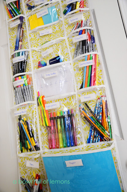 craftaholics anonymous back to school organization tips