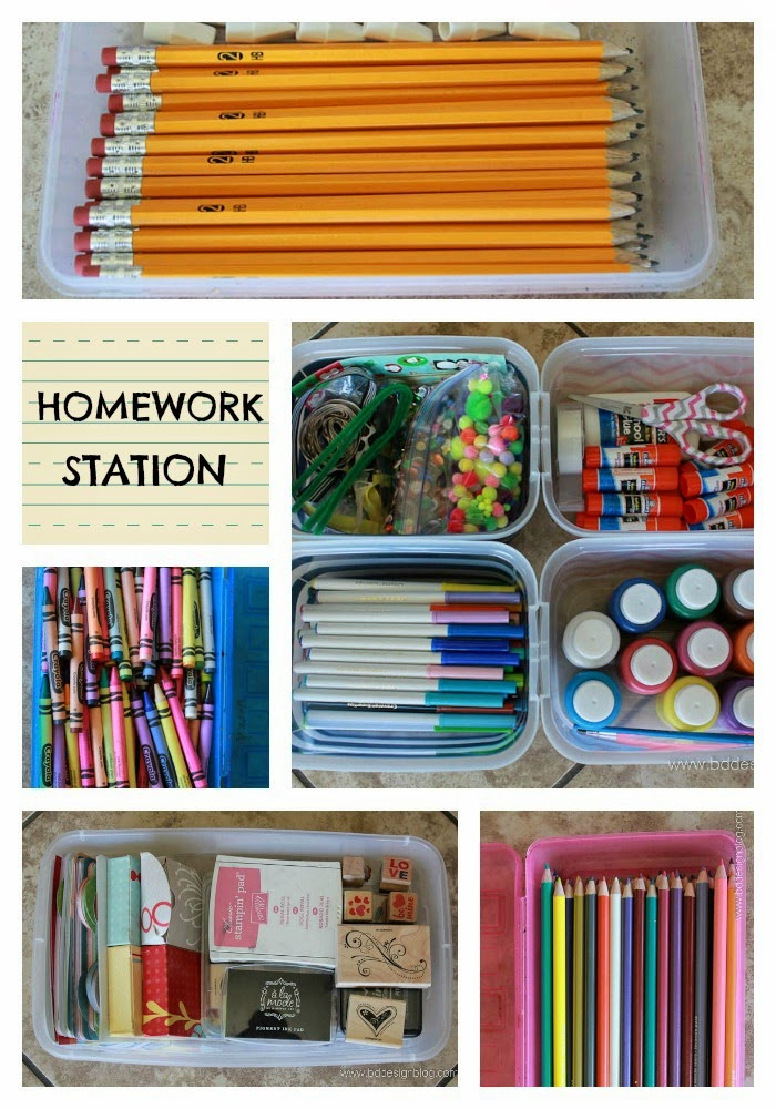 homework station back to school series from painted confetti