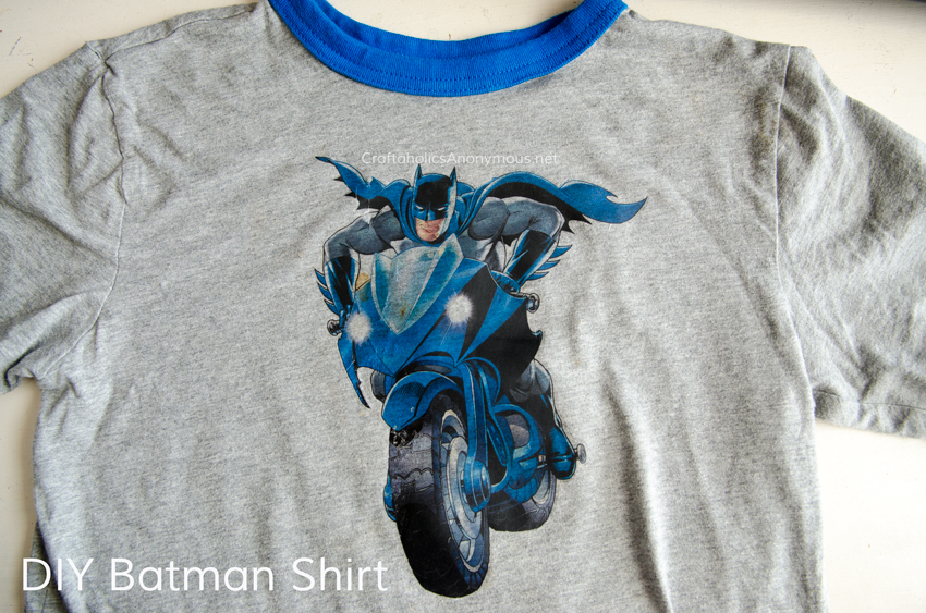 DIY Batman Shirt tutorial - the easy way.