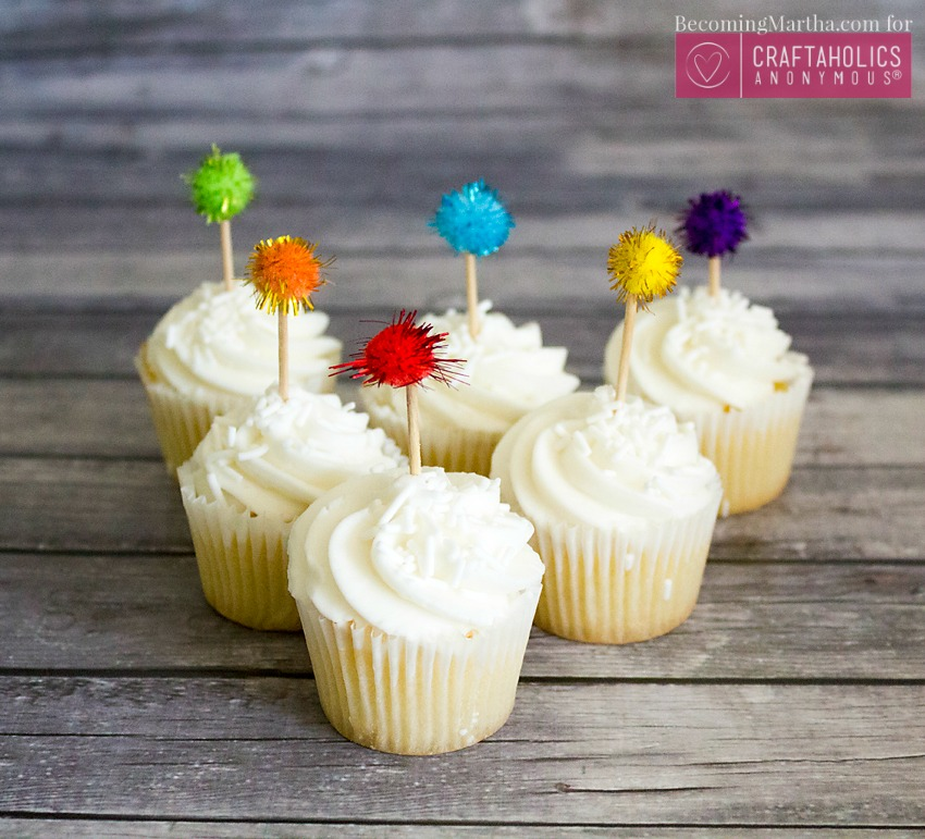 Easy Inexpensive Cupcake Toppers